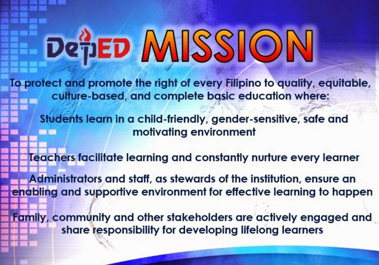 The DepEd Mission