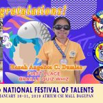 PNSB bags First Place in the 2018 Regional Festival of Talents