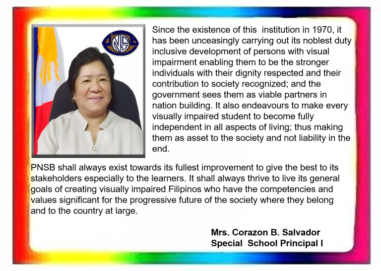 Image and Message of Mrs. Corazon B. Salvador