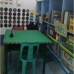 The image shows a classroom thoroughly cleaned and organized