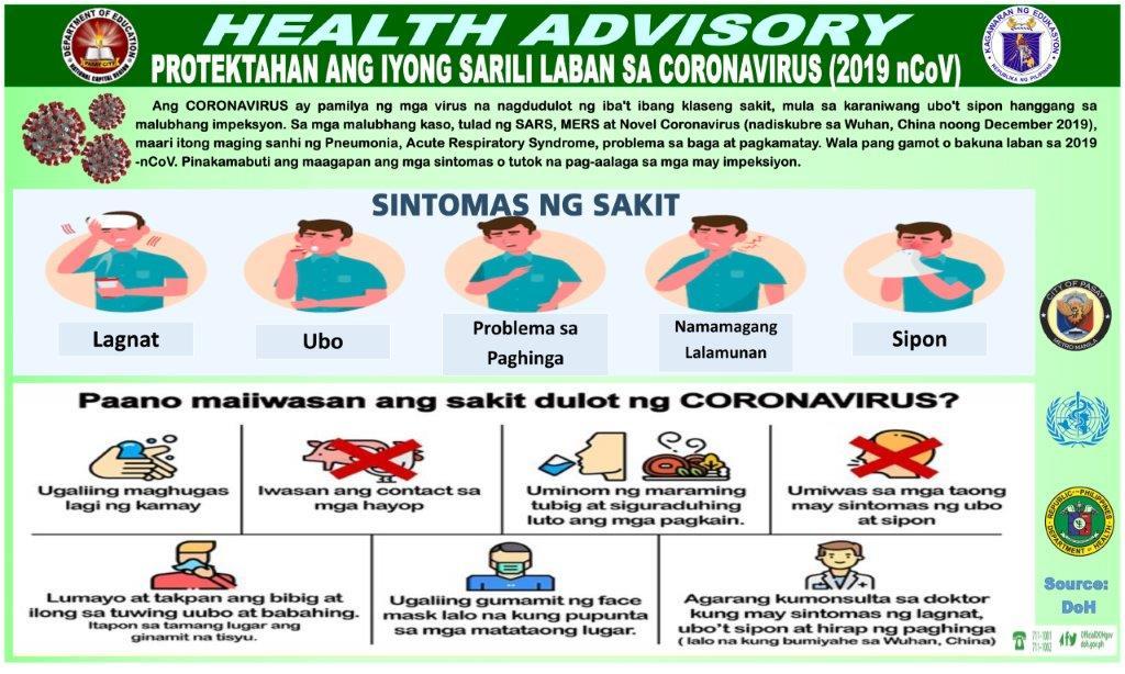 Health Advisory Paano Makakaiwas sa EnCov
