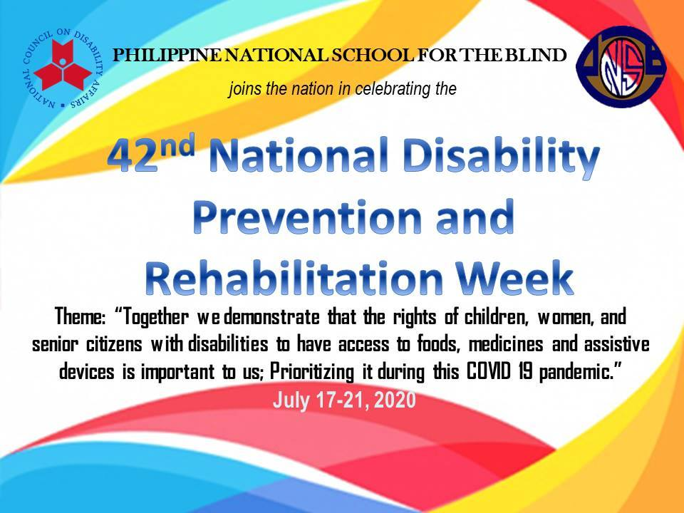TARPAULIN OF NATIONAL DISABILITY PREVENTION AND REHABILITATION WEEK