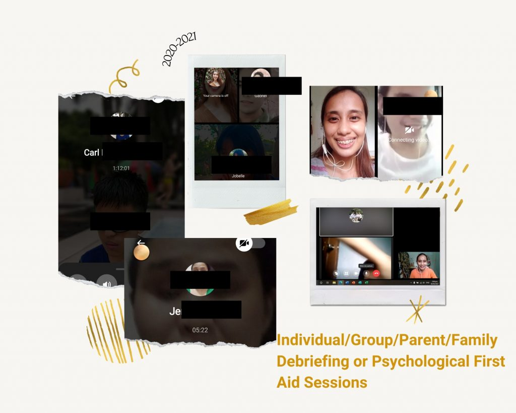 Provision of Psychological first aid