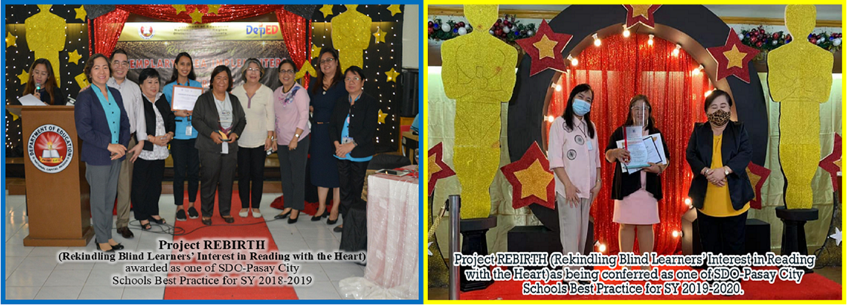 Awarding of Project REBIRTH as one of SDO-Pasay Best Practice for SY 2018-2019 and 2019-2020